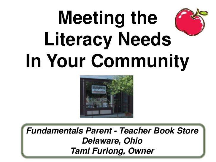 Meeting the  Literacy NeedsIn Your CommunityFundamentals Parent - Teacher Book Store            Delaware, Ohio         Tam...