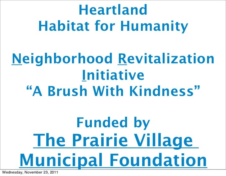 A Brush with Kindness: Prairie Village 2011