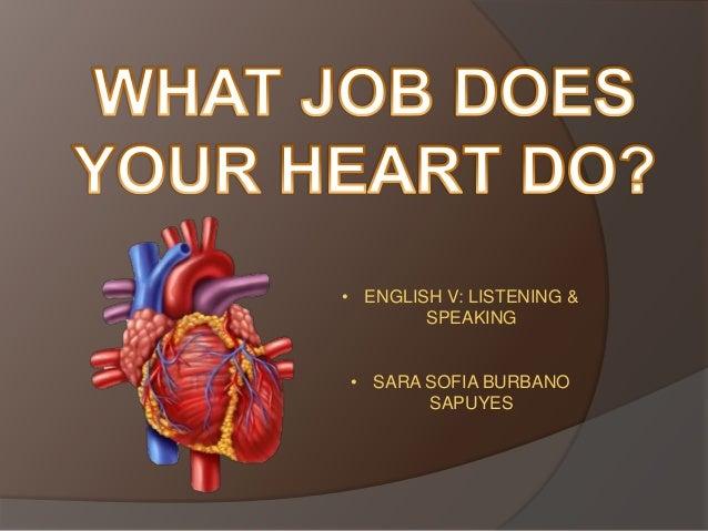 • ENGLISH V: LISTENING & SPEAKING • SARA SOFIA BURBANO SAPUYES