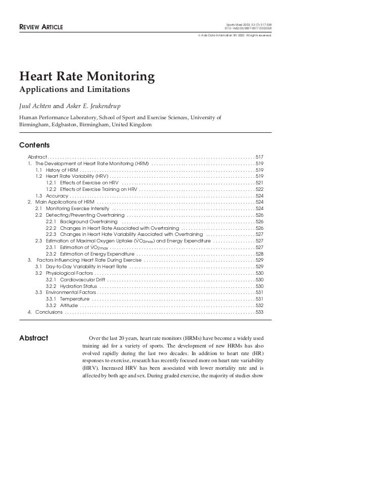 Sports Med 2003; 33 (7): 517-538REVIEW ARTICLE                                                                            ...