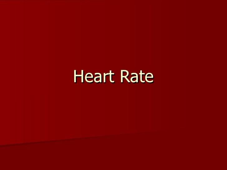 Heart Rate Powerpoint