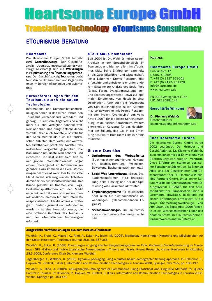 Heartsome E Tourism Description