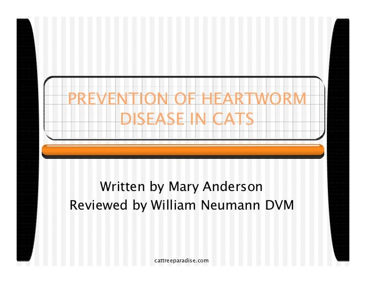 PREVENTION OF HEARTWORM     DISEASE IN CATS     Written by Mary AndersonReviewed by William Neumann DVM           cattreep...