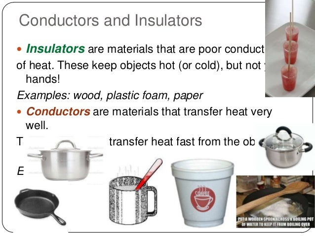 Examples Of Conductors Of Heat : Y wk heat and transfer