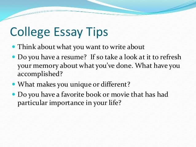 What do you think of this as a College Essay?