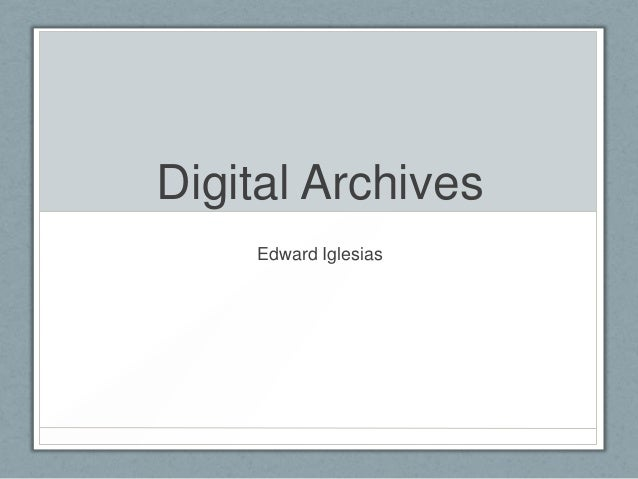Digital History Class Presentation