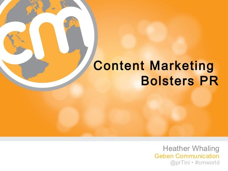 """Content Marketing as Your Public Relations"""