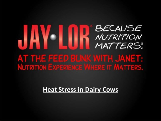 Heat Stress in Dairy Cows