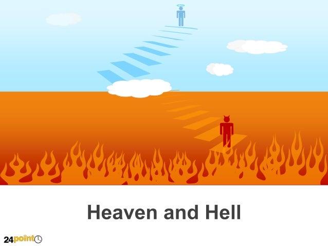 Editable Powerpoint Illustration Heaven And Hell Diagram on Venn Diagram Powerpoint Slide