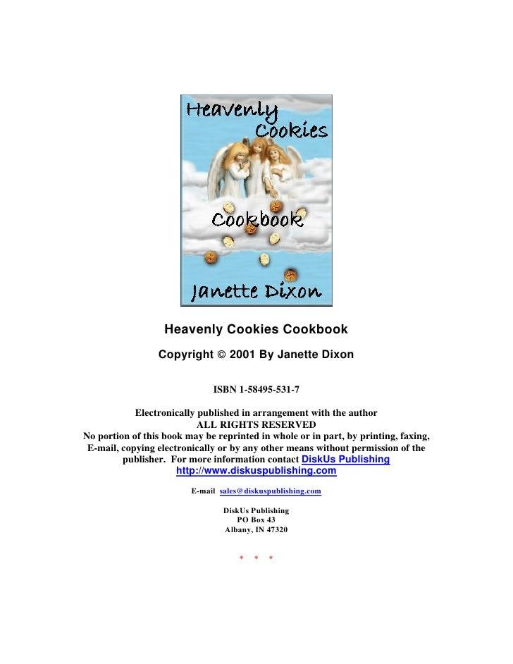 Heavenly cookies