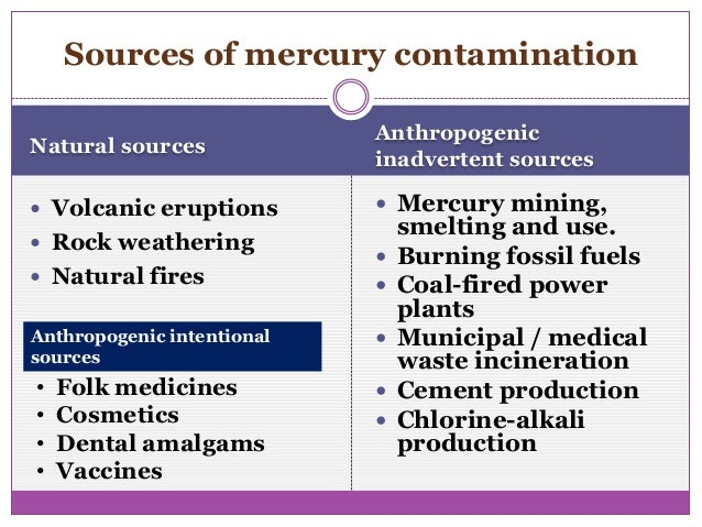 Heavy metal contamination of global environment
