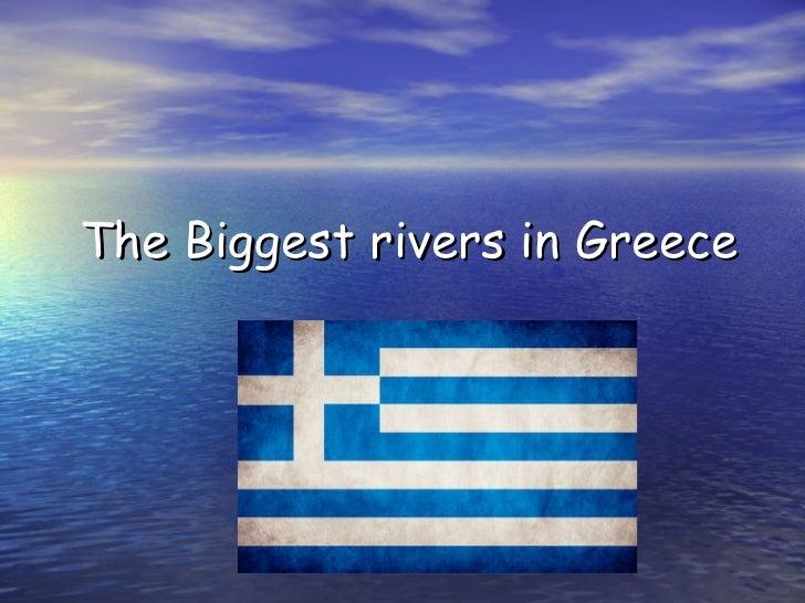Τ he Biggest rivers in Greece