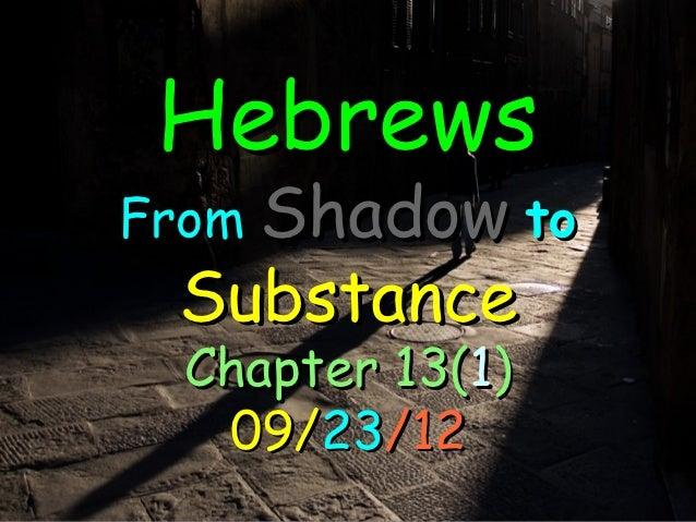 Hebrews 13(2)