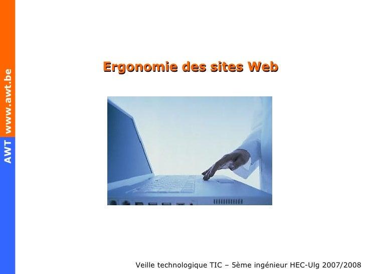 Ergonomie des sites Web