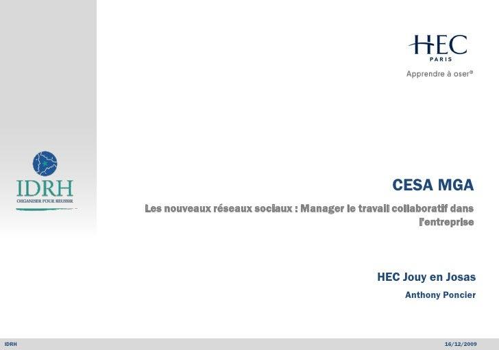 Management général avancé                                                                  CESA MGA           Les nouveaux...