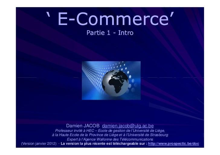 ' E-Commerce'                 E-                                      Partie 1 - Intro                          Damien JAC...