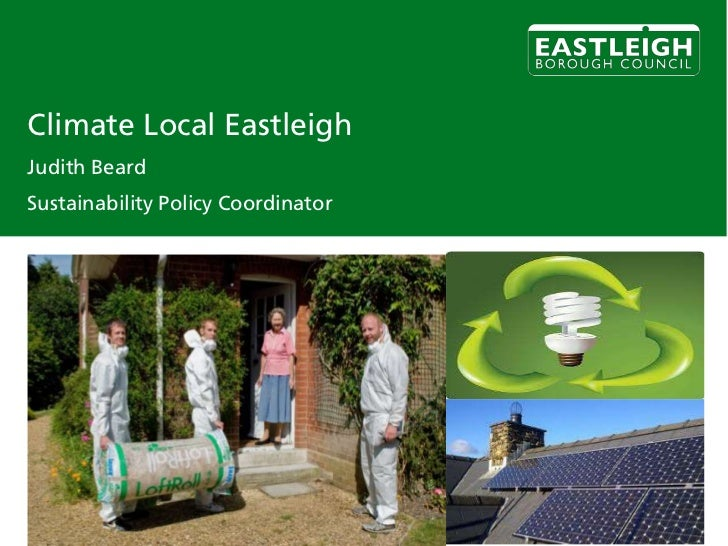 Climate Local EastleighJudith BeardSustainability Policy Coordinator