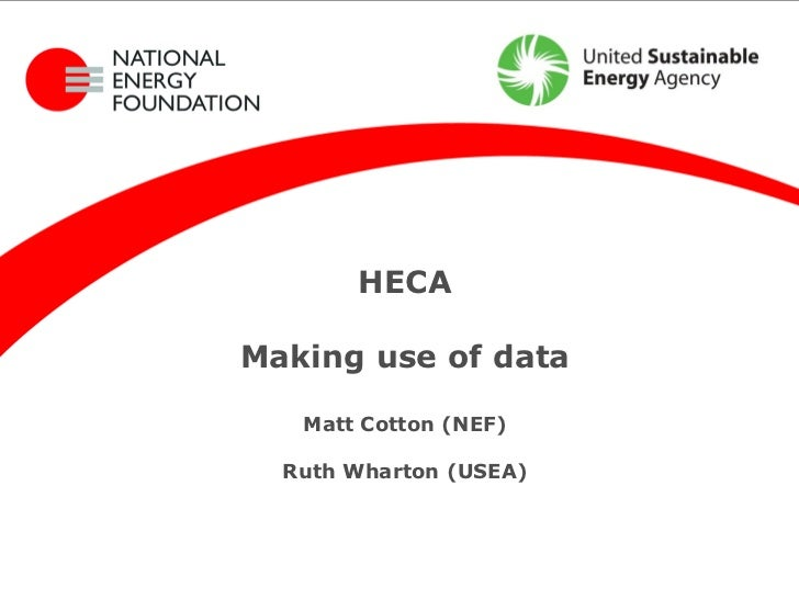 HECA is BACK - making use of data