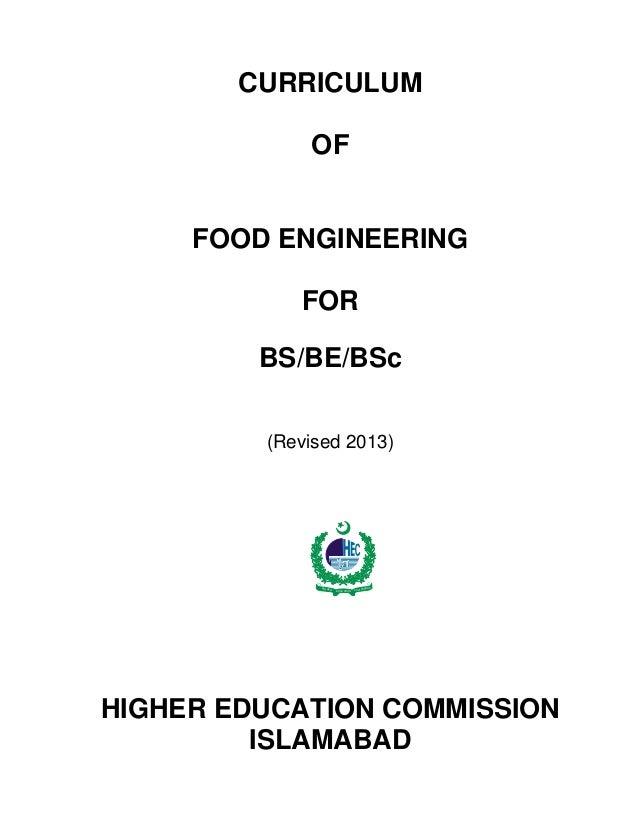 Hec food engineering 2012-13