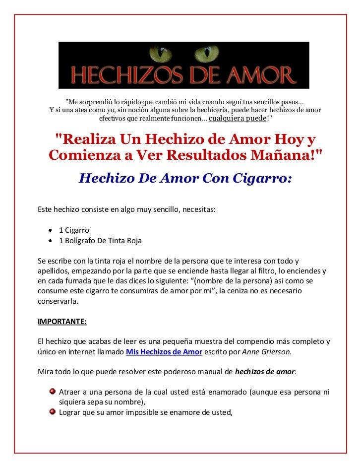 Hechizos de amor efectivos con cigarros   amarres de amor