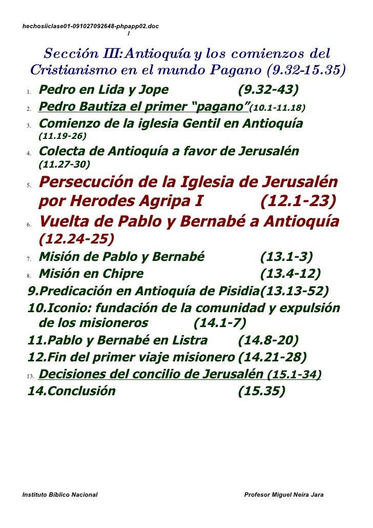hechosiiclase01-091027092648-phpapp02.doc                                 1      Sección III:Antioquía y los comienzos del...