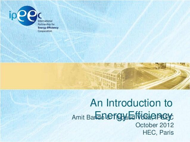 HEC Presentation about IPEEC and EE