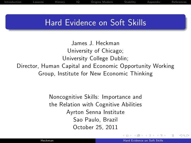 James Heckman_apresentação Seminário Educação para o Século 21