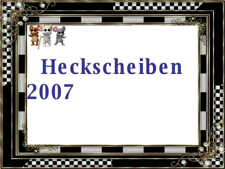 Heckscheiben 2007