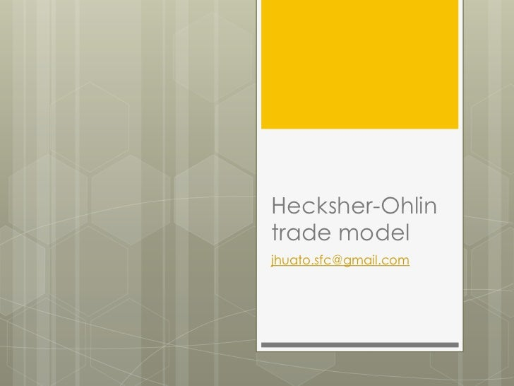 Hecksher-Ohlin model