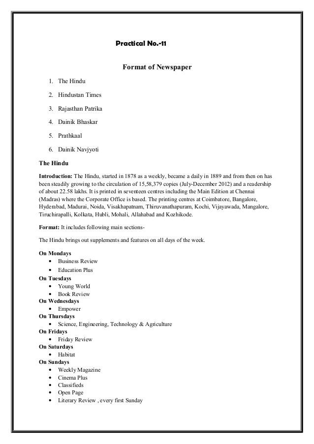 scientific report writing format