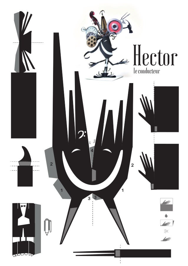 Hector paper toy