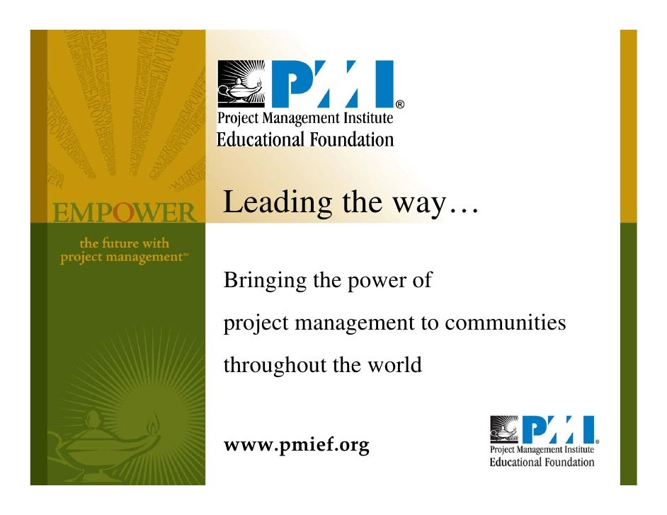 PMIEF Overview