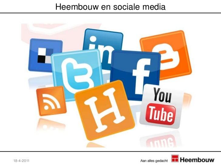 Heembouw en sociale media<br />18-4-2011<br />