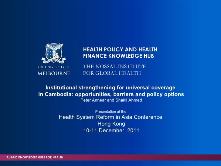 HEALTH POLICY AND HEALTH                                      FINANCE KNOWLEDGE HUB                                      T...