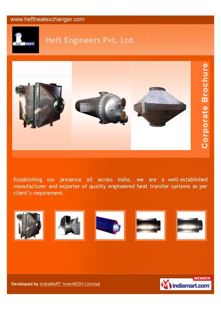 Heft Engineers Pvt. Ltd, Thane, Air Cooled Heat Exchanger