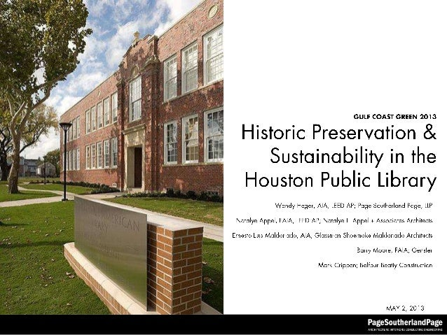 Historic Preservation in the Houston Public Library System