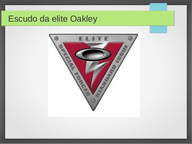 Escudo da elite Oakley