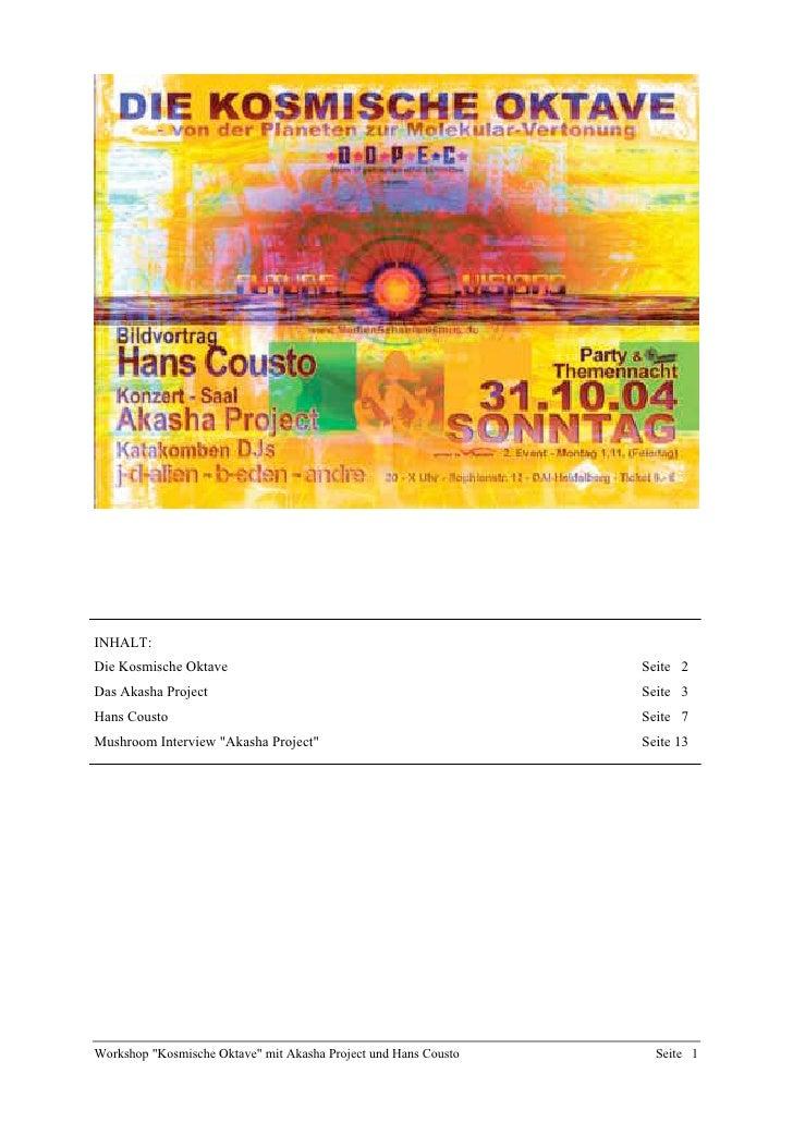 INHALT: Die Kosmische Oktave                                             Seite 2 Das Akasha Project                       ...