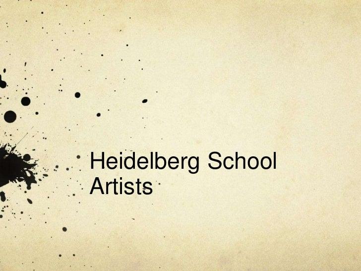 Heidelberg SchoolArtists