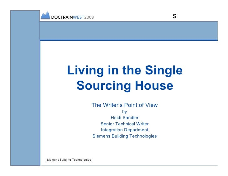 s                  Living in the Single                Sourcing House                                 The Writer's Point o...