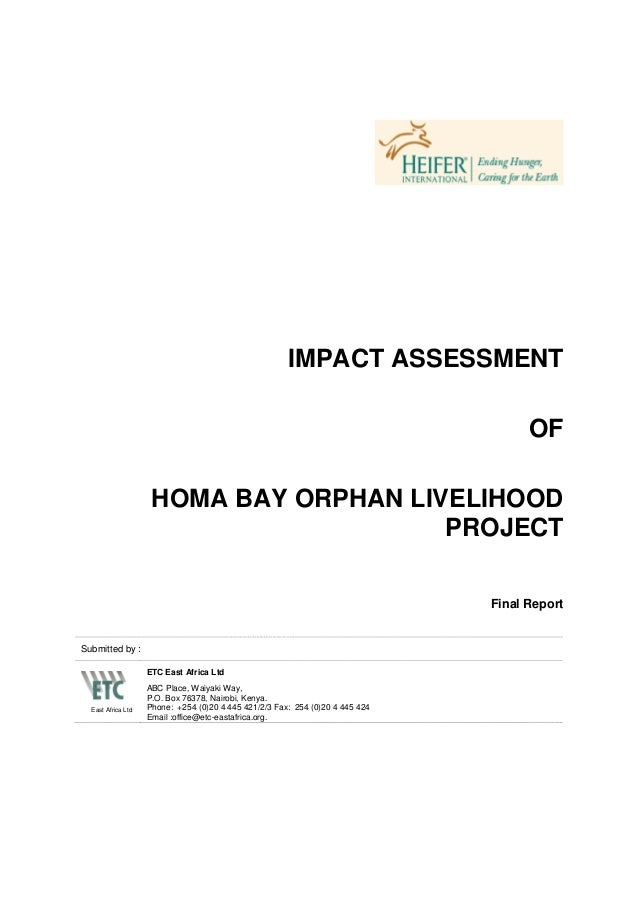Impact Assessment of Homa Bay Orphan Livelihood Project