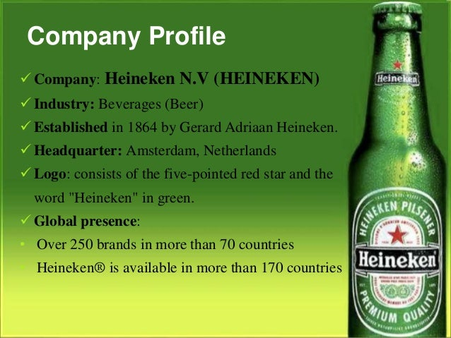 vision and mission of heineken Namibia breweries ltd - profile established on 29 october 1920, namibia breweries limited (nbl) is one of the leading beverage manufacturing companies in namibia and.