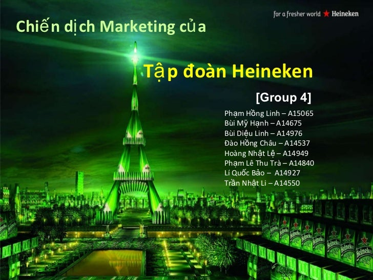 heineken marketing mix Investigating the impact of marketing mix elements on consumer loyalty: an emprical study on nigerian breweries plc owomoyela s k department of business.