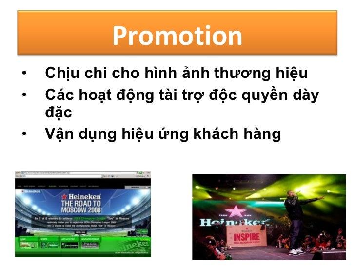 the marketing mix of heineken Marketing mix ca heineken ti th trng vit nam:heineken marketing  nh c ng boi chi n luoc marketing-mix hieu qua heineken duoc xem l thuong hieu bia th.