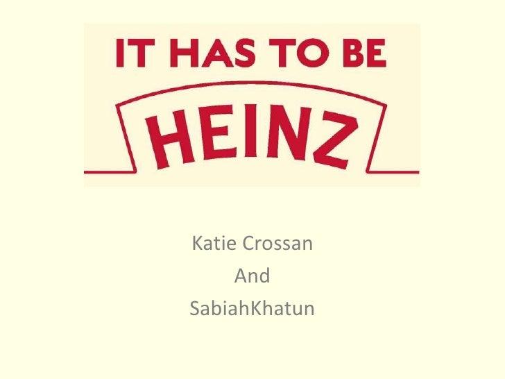 Katie Crossan<br />And<br />SabiahKhatun<br />