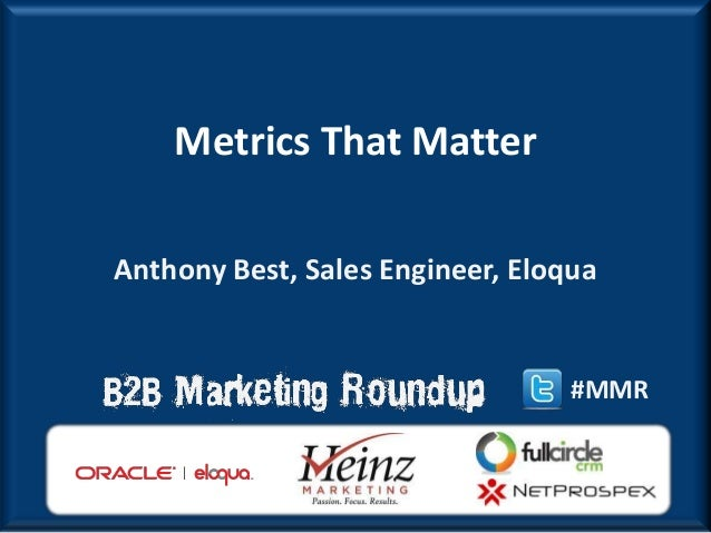 Eloqua on Metrics that Matter at the 2013 B2B Modern Marketing Roundup with Heinz Marketing
