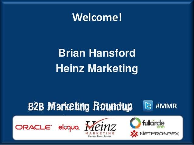 2013 B2B Modern Marketing Round Kickoff