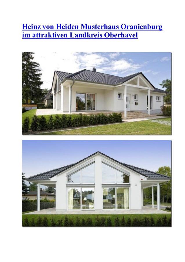 Heinz von Heiden Musterhaus Oranienburg im attraktiven Landkreis Oberhavel