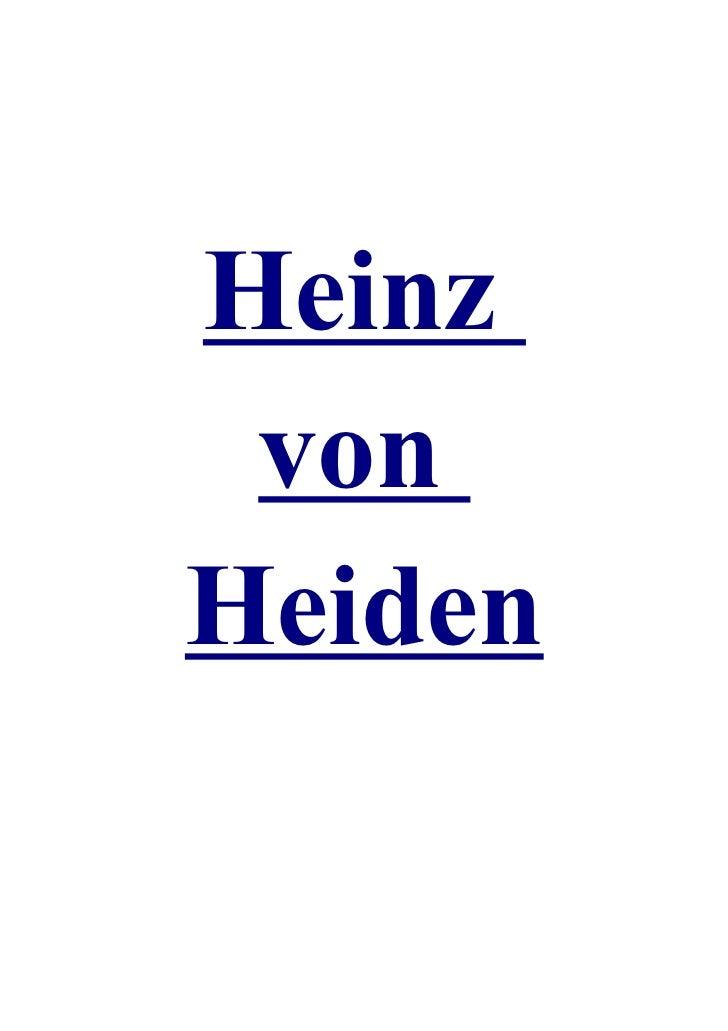 Heinz vonHeiden