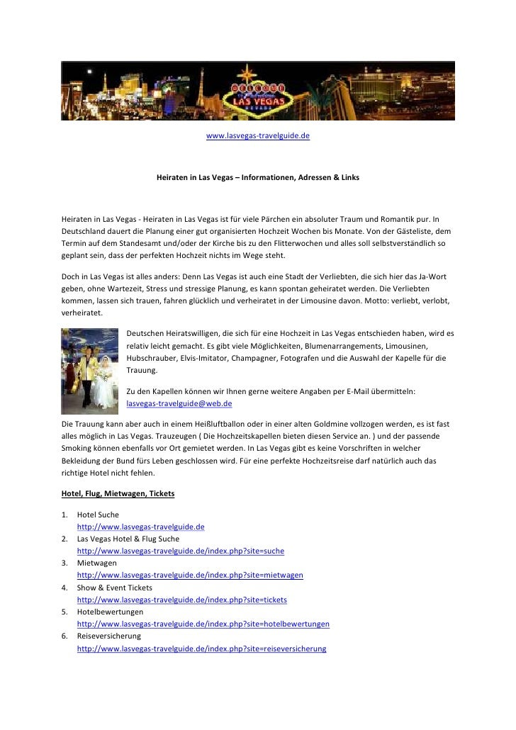 www.lasvegas-travelguide.de                           Heiraten in Las Vegas – Informationen, Adressen & LinksHeiraten in L...